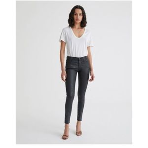 "AG ""the Legging"" super skinny coated black jeans"